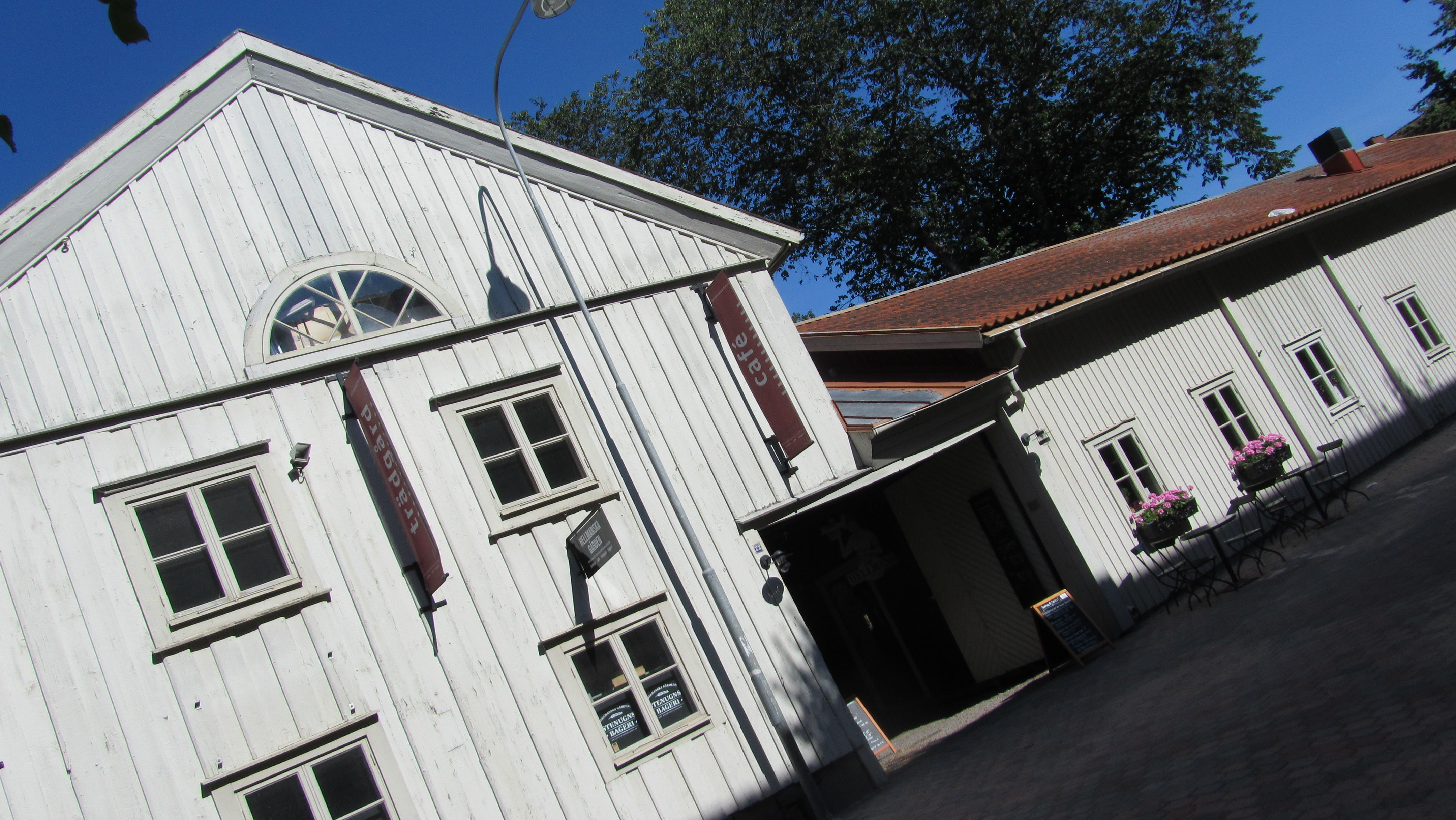Formerly stables, now a lovely cafe in Nykoping