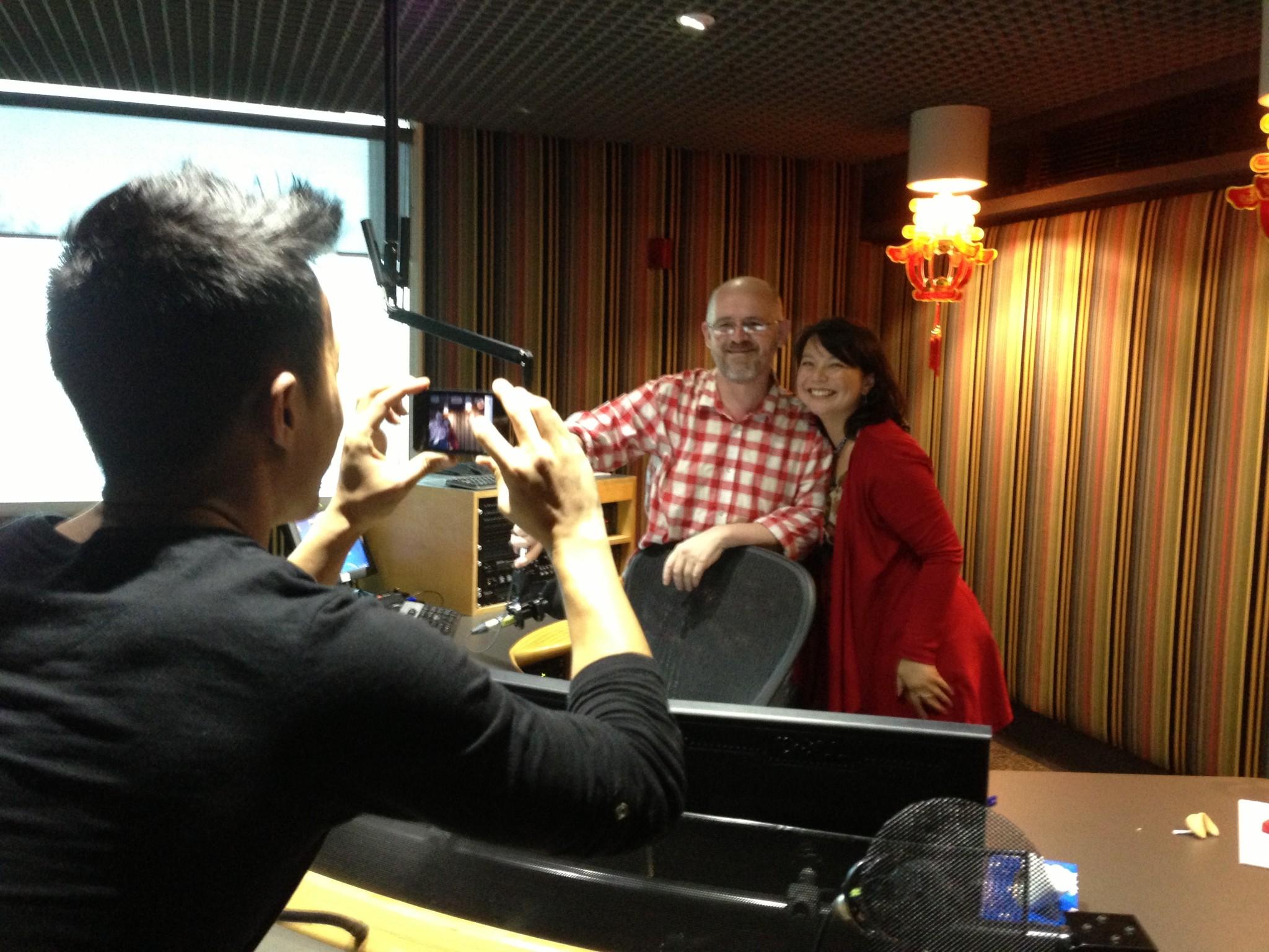 David, James, Andrea in 702 ABC Sydney studio