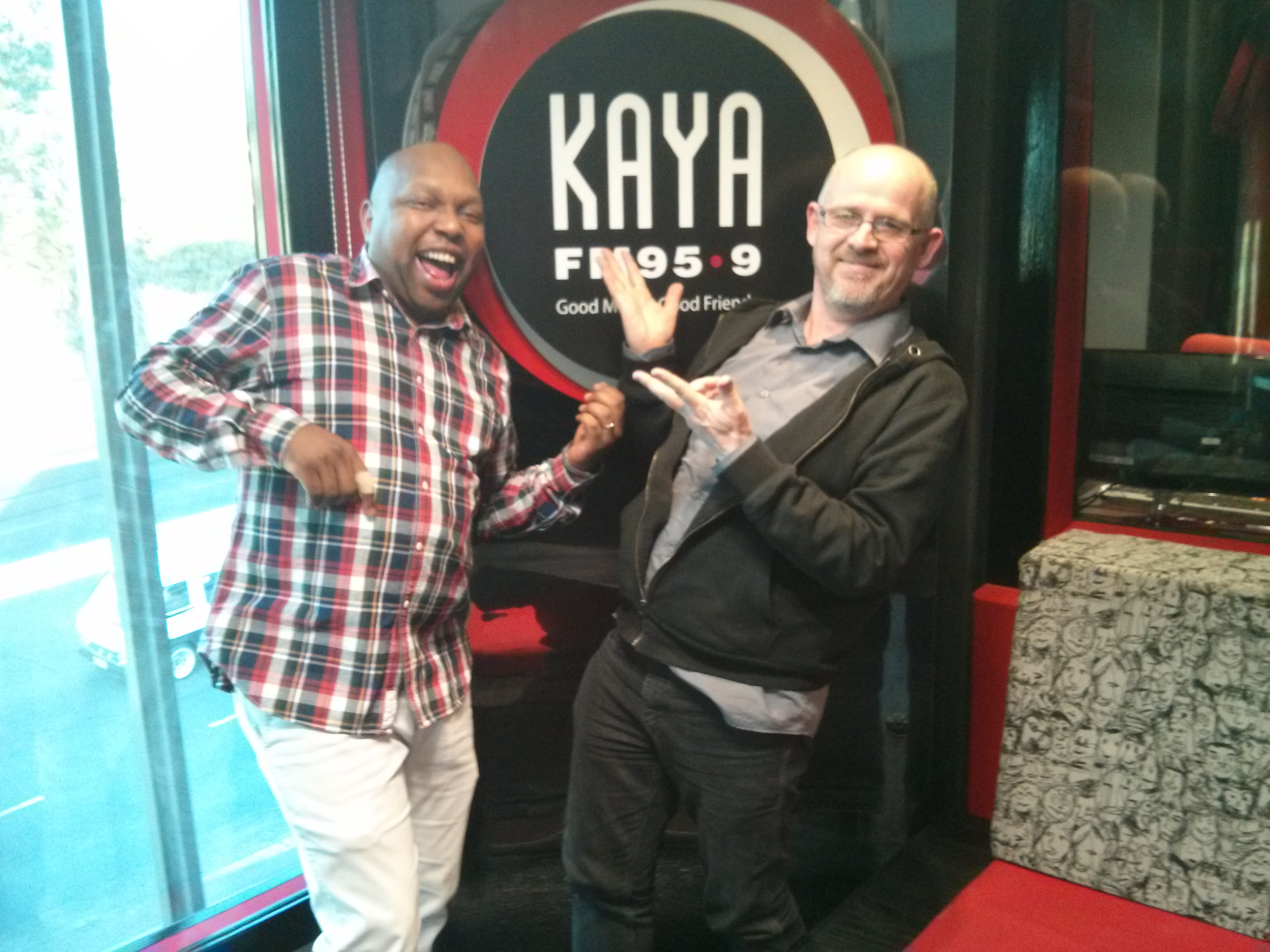 Interview with Mo-G at Kaya FM in Johannesburg
